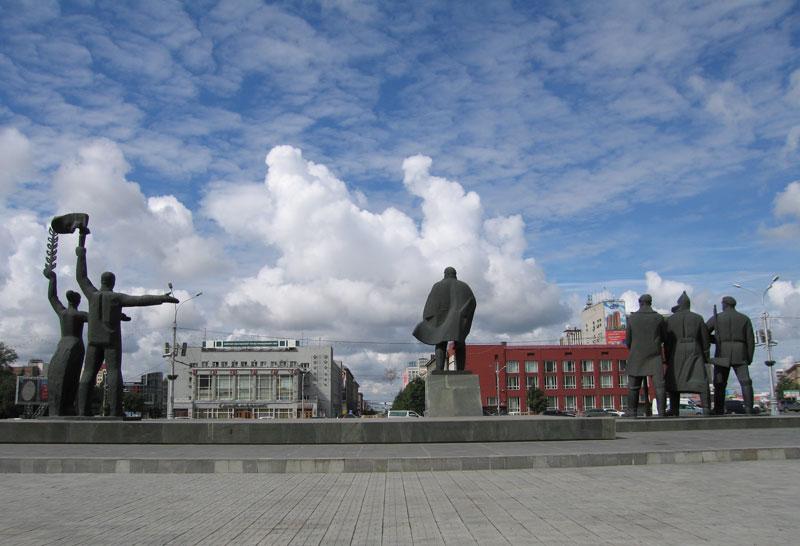 siberia pontos de interesse 1 - A praça Lênin em Novosibirsk