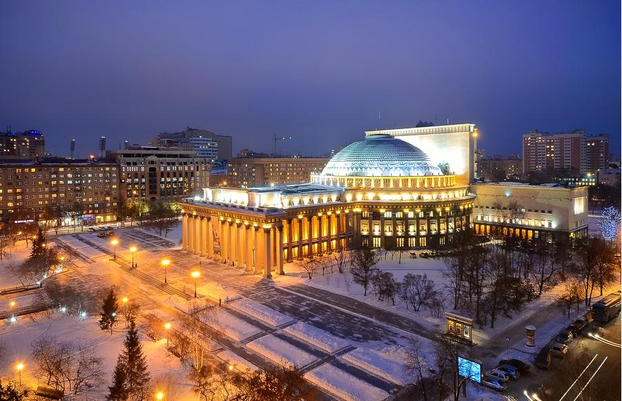 siberia pontos de interesse 11 - A praça Lênin em Novosibirsk