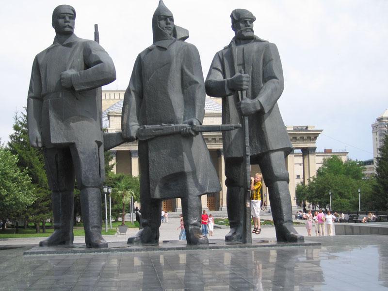 siberia pontos de interesse 2 - A praça Lênin em Novosibirsk