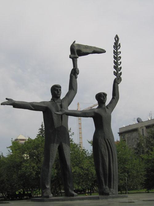 siberia pontos de interesse 3 - A praça Lênin em Novosibirsk