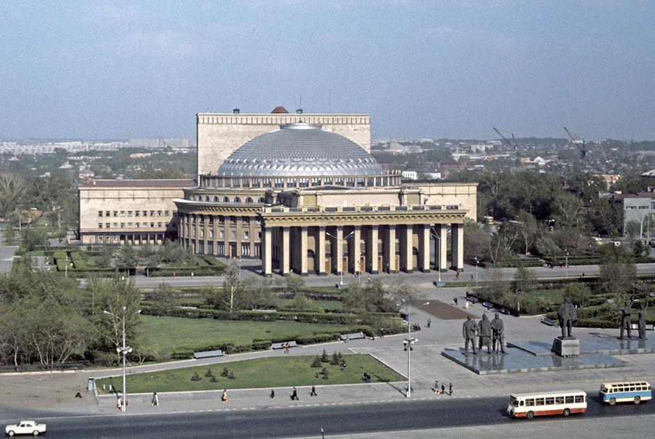 siberia pontos de interesse 8 - A praça Lênin em Novosibirsk