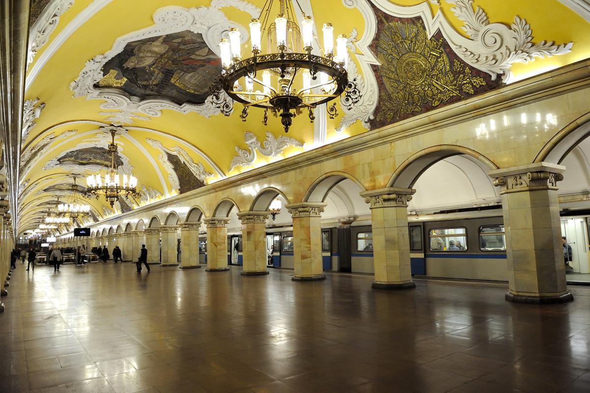 метро Комсомольская - O que tem de bom na russia